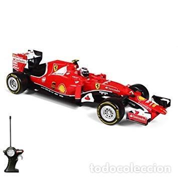 Radio Control: COCHE DE CARRERAS RADIO CONTROL 1/24 Maisto Tech - RC Ferrari F14T'14 F. Alonso color ROJO - Foto 2 - 128168011