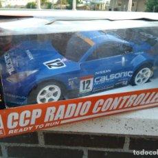 Radio Control: NISSAN CALSONIC 1/10 RADIO CONTROL REVISADA FUNCIONANDO CON BATERIA Y CARGADOR . Lote 133856470