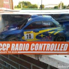Radio Control: SUBARU IMPREZA 1/10 RADIO CONTROL REVISADA FUNCIONANDO CON BATERIA Y CARGADOR . Lote 133856562