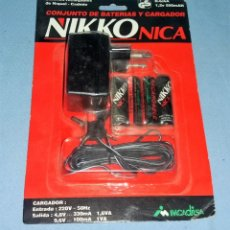 Radio Control: CONJUNTO DE BATERIAS Y CARGADOR NIKKO NICA A ESTRENAR VER FOTOS. Lote 135770850