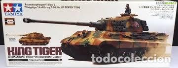 TAMIYA - GERMAN KING TIGER RADIO CONTROL 36204 1/16 (Juguetes - Modelismo y Radiocontrol - Radiocontrol - Coches y Motos)