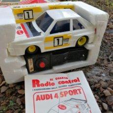 Radio Control: AUDI 4 SPORT- POLISTIL RADIO CONTROL (MADE IN ITALY) EN CAJA Y INSTRUCCIONES, SIN USO.. Lote 140007622