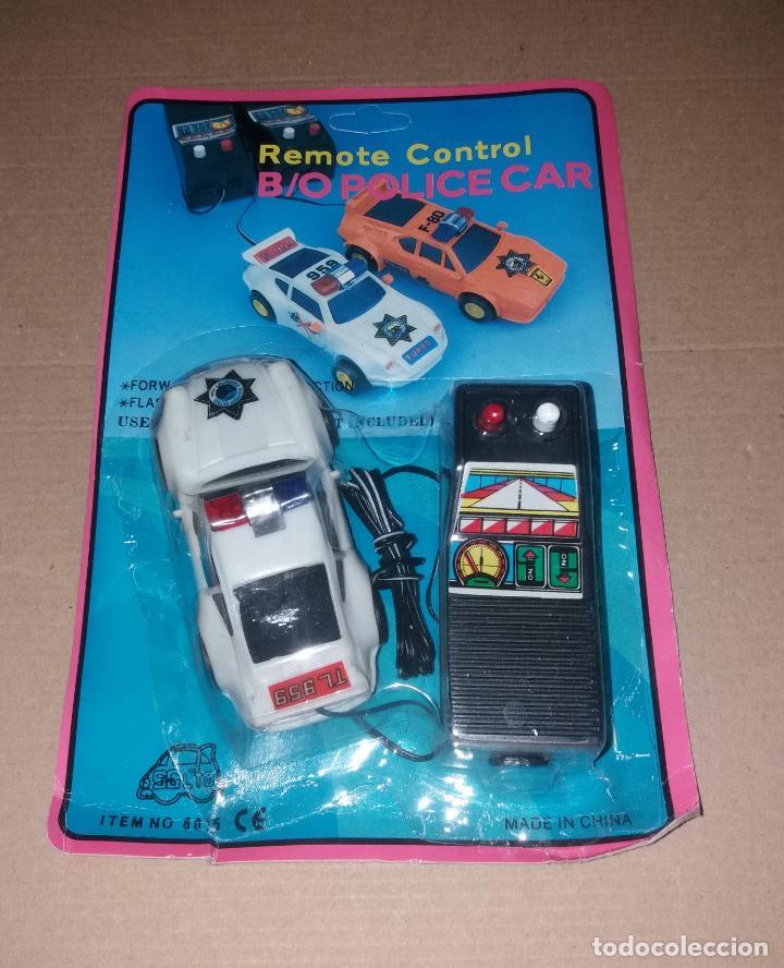 Radio Control: Juguete coche con mando. Porsche 959 policía, en blister sin abrir, años 90 - Foto 2 - 140037930