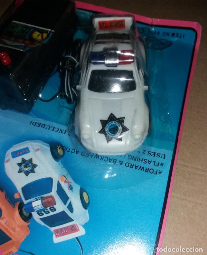 Radio Control: Juguete coche con mando. Porsche 959 policía, en blister sin abrir, años 90 - Foto 5 - 140037930