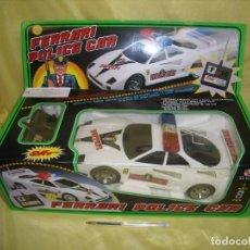 Radio Control: FERRARI F40 POLICÍA CAR RADIO CONTROL, 7 FUNCIONES CON TURBO, AÑO 1989, FUNCIONA, NUEVO SIN ABRIR.. Lote 141483582