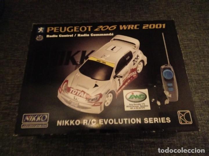 NIKKO PEUGEOT 206 WRC RADIO CONTROL SYSTEM. EVOLUTION SERIES. NUEVO PRECINTADO (Juguetes - Modelismo y Radiocontrol - Radiocontrol - Coches y Motos)