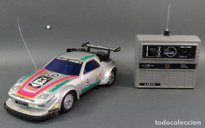 Radio Control: Porsche 928 Radiocontrol Likto Made in Hong Kong años 80 Funciona - Foto 6 - 191683997