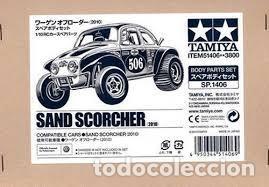 TAMIYA - SAND SCORCHER SOLO CARROCERIA PEGATINAS ETC REF 51406 (Juguetes - Modelismo y Radiocontrol - Radiocontrol - Coches y Motos)