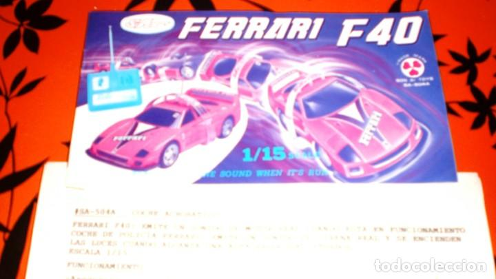 Radio Control: COCHE FERRARI F40 AUTO CONTROL ACROBATICO -ESCALA 1/15 - Foto 8 - 150626978
