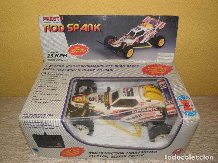 VINTAGE 80S RADIO REMOTE CONTROL ROD SPARK OFF-ROAD BUGGY CAR NEW IN BOX -NO FUNCIONA- TR 832 PRESTO (Juguetes - Modelismo y Radiocontrol - Radiocontrol - Coches y Motos)