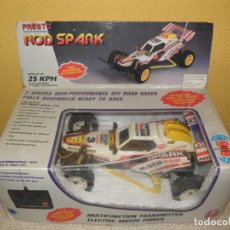 Radio Control: VINTAGE 80S RADIO REMOTE CONTROL ROD SPARK OFF-ROAD BUGGY CAR NEW IN BOX -NO FUNCIONA- TR 832 PRESTO. Lote 162970400