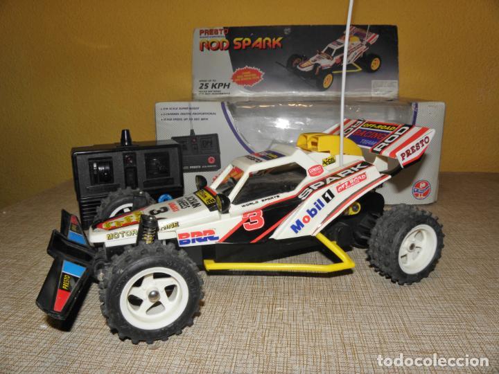 Radio Control: VINTAGE 80s RADIO REMOTE CONTROL ROD SPARK OFF-ROAD BUGGY CAR NEW IN BOX -NO FUNCIONA- TR 832 PRESTO - Foto 5 - 162970400