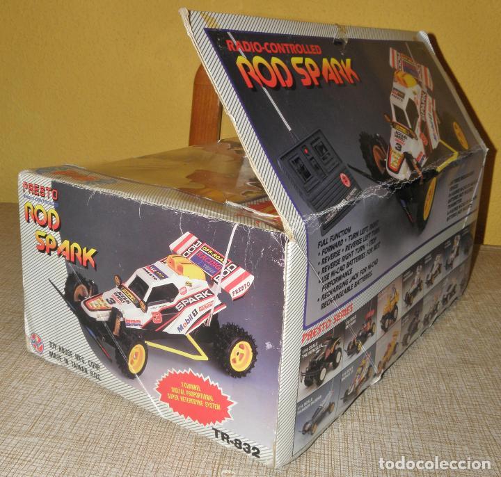 Radio Control: VINTAGE 80s RADIO REMOTE CONTROL ROD SPARK OFF-ROAD BUGGY CAR NEW IN BOX -NO FUNCIONA- TR 832 PRESTO - Foto 20 - 162970400