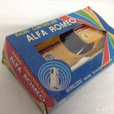 Radio Control: ALFA ROMEO 1600 SCARABLO RADIO CONTROL VINTAGE MADE IN TAIWÁN EN SU CAJA. Lote 159590745