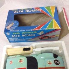 Radio Control: ALFA ROMEO 1600 SCARABLO RADIO CONTROL VINTAGE MADE IN TAIWÁN EN SU CAJA. Lote 159592849