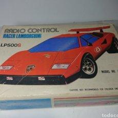 Radio Control: LAMBORGHINI RACER RADIO CONTROL LP500S, AÑOS 70 CON SU CAJA ORIGINAL. Lote 159907938