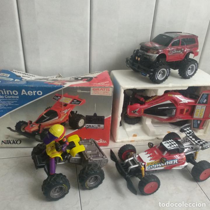 LOTE DE 4 COCHES NIKKO Y TONKA SURVIVOR 2,E-PANTHER,RHINO AERO (Toys - Modeling and Radio Control - Radio Control - Cars and Motorcycles)