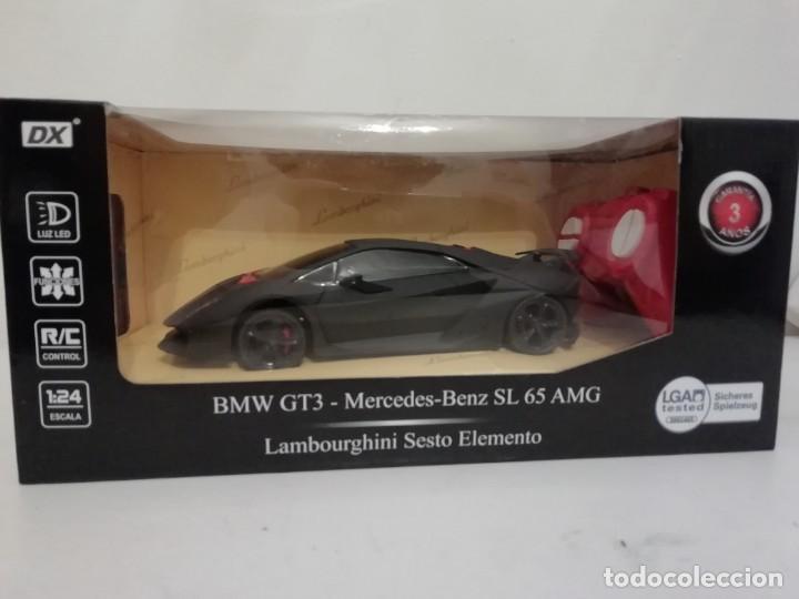DX RADIOCONTROL LAMBOURGHINI SESTO ELEMENTO BMW GT3 MERCEDES SL 65 AMG 1/24 NUEVO (Juguetes - Modelismo y Radiocontrol - Radiocontrol - Coches y Motos)