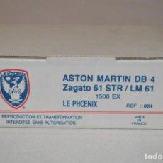 Radio Control: ASTON MARTIN DB 4 ZAGATO 61 STR/LM 61. REF. 004. ESC. 1/43. LE PHOENIX. FRANCE. ROMANJUGUETESYMAS.. Lote 162168946