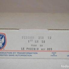Radio Control: FERRARI 250 TESTAROSSA. 1º LE MANS 1958. REF. 005. ESC. 1/43. LE PHOENIX. FRANCE. ROMANJUGUETESYMAS.. Lote 162173026
