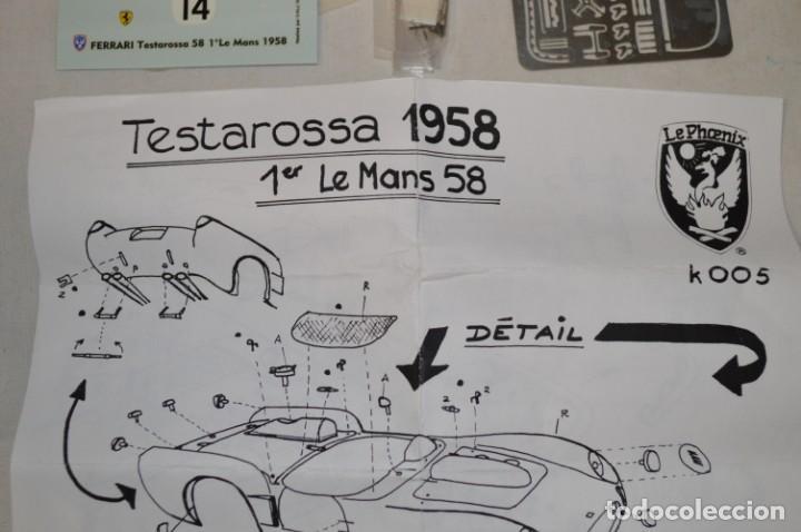 Radio Control: Ferrari 250 Testarossa. 1º Le Mans 1958. Ref. 005. Esc. 1/43. Le Phoenix. France. romanjuguetesymas. - Foto 8 - 162173026