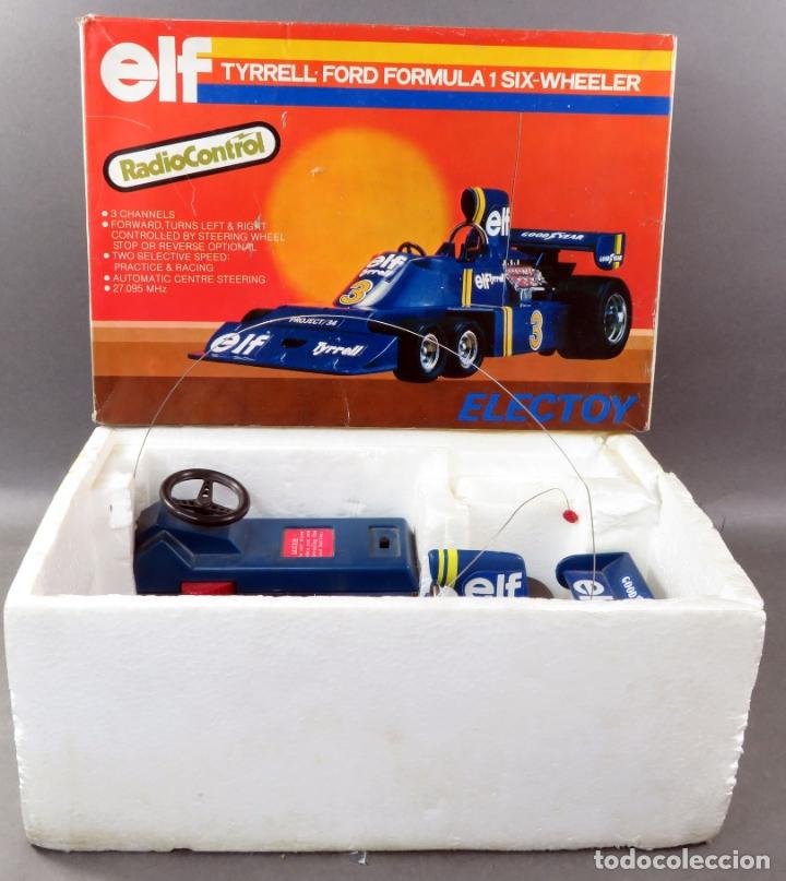 Radio Control: Tyrrell Ford Fórmula 1 Six Wheeler Radio Control Elf Electoy años 80 Funciona - Foto 2 - 165358326