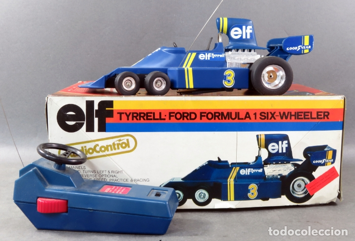 Radio Control: Tyrrell Ford Fórmula 1 Six Wheeler Radio Control Elf Electoy años 80 Funciona - Foto 4 - 165358326