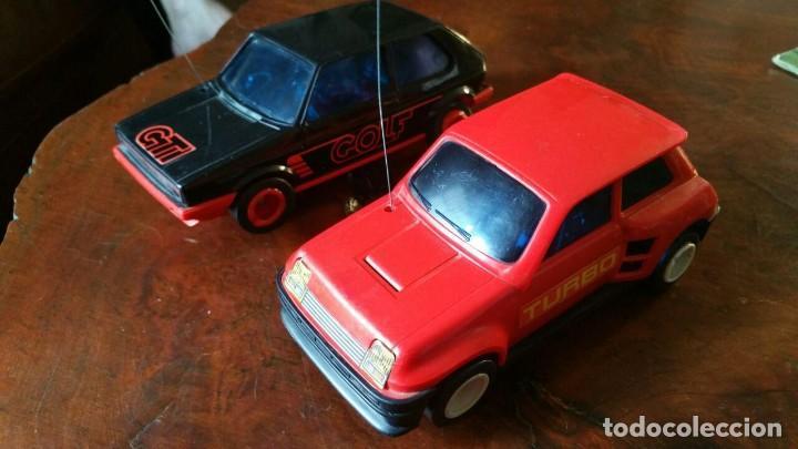 2 COCHES RADIO CONTROL JOUSTRA - RENAULT 5 TURBO Y VW GOLF GTI (Juguetes - Modelismo y Radiocontrol - Radiocontrol - Coches y Motos)