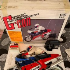 Radio Control: MOTO HONDA VFR 75R RADIO CONTROL GREEN CORPORATION ESCALA 1/5 JAPAN. Lote 170505404