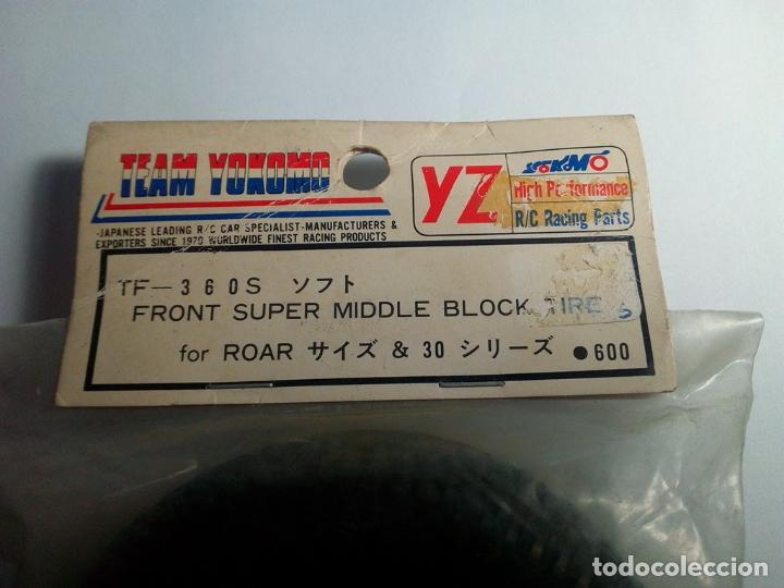 Radio Control: TEAM YOKOMO-FRONT SUPER MIDDLE BLOCK TIRE FOR ROAD-360S - Foto 2 - 170952350