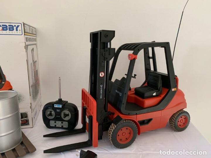 Radio Control: Carretilla elevadora radio control escala 1:6 gigante fork lift truck rc giant - Foto 2 - 174033993
