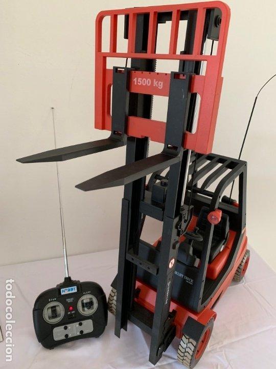 Radio Control: Carretilla elevadora radio control escala 1:6 gigante fork lift truck rc giant - Foto 12 - 174033993