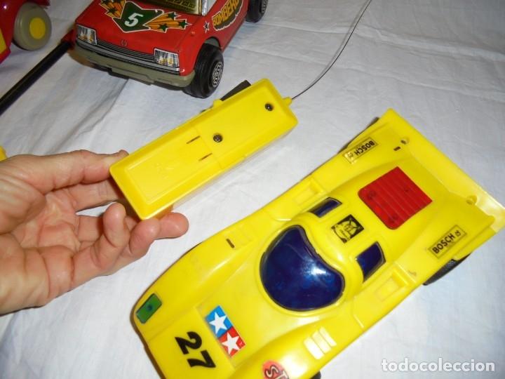 Radio Control: 2 COCHES TELEDIRIGIDOS Y UNO A FRICCION.COCHE NODDY.COCHE A FRICCION BOMBEROS OBERTOIS,COCHE CARRERA - Foto 5 - 183173192