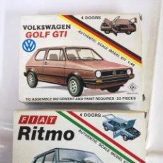 Radio Control: DOS MAQUETAS VOLKSWAGEN GOLF GTI- MODEL KIT 1:48 (MADE IN ITALY).Y FIAT RITMO. Lote 183937023