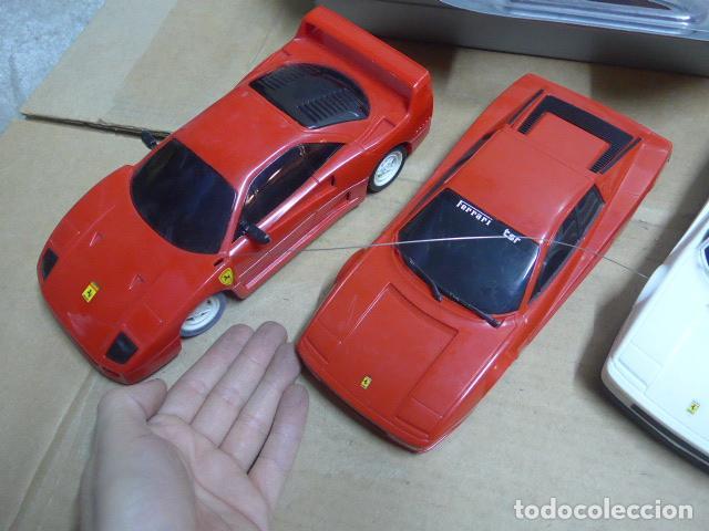 Radio Control: * Antiguo lote de coches teledirigido o radio control, años 80-90, originales. Ferrari. ZX - Foto 2 - 184259822