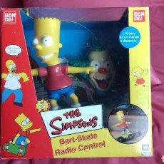 Radiocommande: BART SKATE RADIO CONTROL THE SIMPSONS. PLAYMATES-BANDAI AÑO 2000.. Lote 187494205
