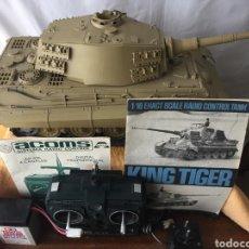 Radio Control: TANQUE R/C TAMIYA KING TIGER ESCALA 1:16. Lote 194392546