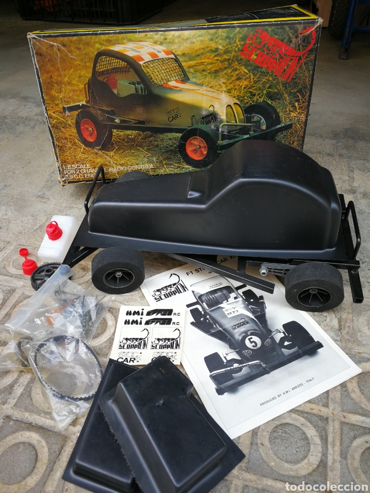 RADIO CONTROL SCORPION F-1 RACING STOCK CAR KIT (3'5CC)- H.M.I (ITALY), REF. 4120. AÑOS 70'S.RARO! (Juguetes - Modelismo y Radiocontrol - Radiocontrol - Coches y Motos)