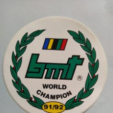 Radio Control: PEGATINA CAMPEÓN DEL MUNDO BMT 1991/92 ADHESIVO STICKER 16CM DIÁMETRO AUTOMODELISMO RADIO CONTROL. Lote 207029610