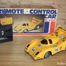 Radiocommande: POLYTRONICS T-11 R-101 COCHE RADIOCONTROL - EN SU CAJA ORIGINAL - COLOR AMARILLO. Lote 212384608