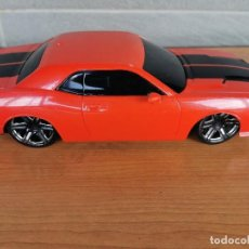 Radio Control: FAST LANE RADIO CONTROL 1:16 SCALE MUSCLE CAR - DODGE CHALLENGER - 27 MHZ RED/BLACK BY TOYS R US. Lote 222553298