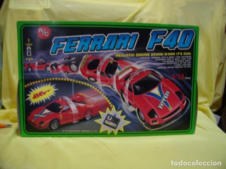 Radio Control: Ferrari F40 Radio Control, año 1990, acrobático, turbo, escala 1/15, Nuevo sin abrir - Foto 10 - 231613220