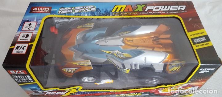 MAX POWER R/C SERIES SPEED RACING CAR 4WD POWER RADIO CONTROL, NUEVO EN SU CAJA (Juguetes - Modelismo y Radiocontrol - Radiocontrol - Coches y Motos)