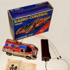 Radio Control: PORSCHE 917. RADIO-CONTROL. CAJA + MANDO + FOLLETO DE EPOCA. VALTOY. MADE IN SPAIN. JUEGO. JUGUETE.. Lote 237279395