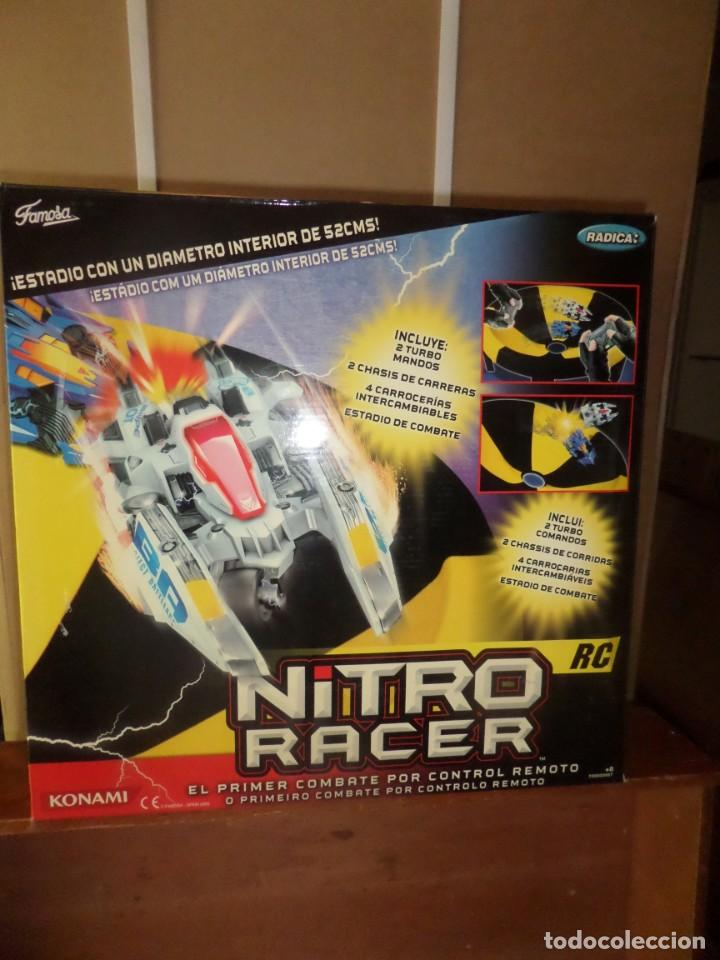 NITRO RACER EL PRIMER COMBATE POR CONTROL REMOTO - FAMOSA - DISPONGO DE MAS JUGUETES (Juguetes - Modelismo y Radiocontrol - Radiocontrol - Coches y Motos)