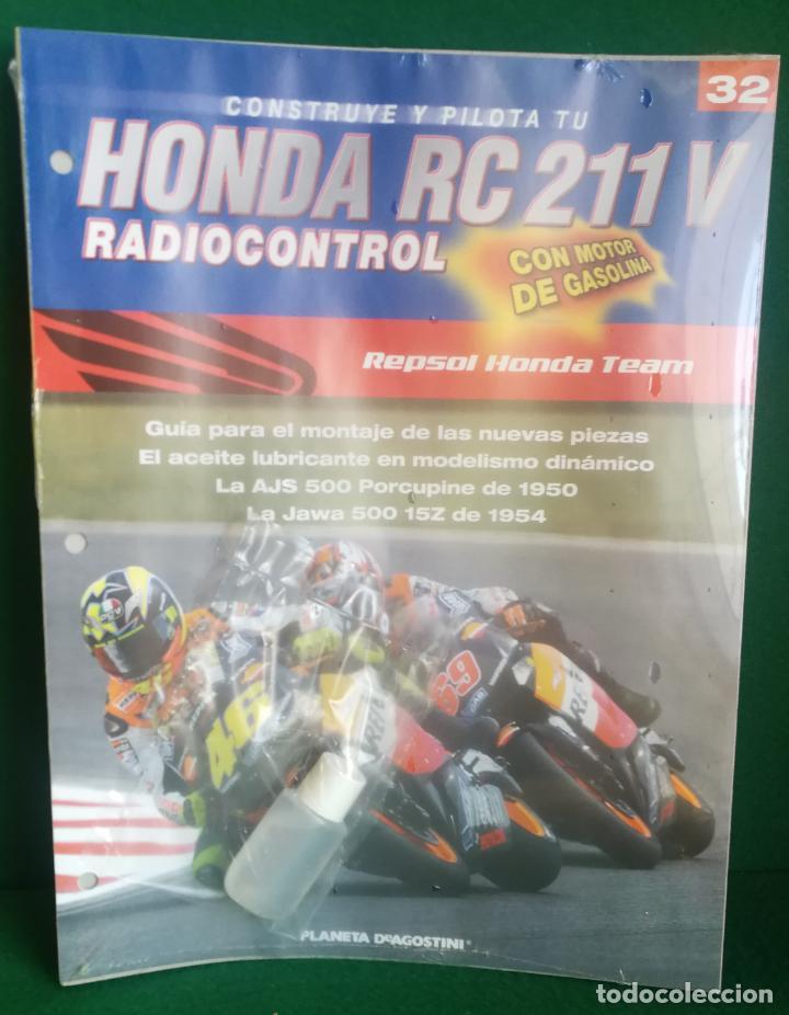 Radio Control: CONSTRUYE Y PILOTA TU HONDA RC 211 V - ESCALA 1/5 - PLANETA DEAGOSTINI - 56 FASCÍCULOS - JYA70 - Foto 52 - 269130918