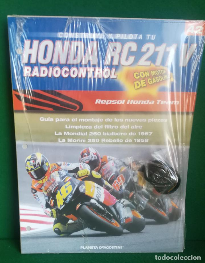 Radio Control: CONSTRUYE Y PILOTA TU HONDA RC 211 V - ESCALA 1/5 - PLANETA DEAGOSTINI - 56 FASCÍCULOS - JYA70 - Foto 62 - 269130918