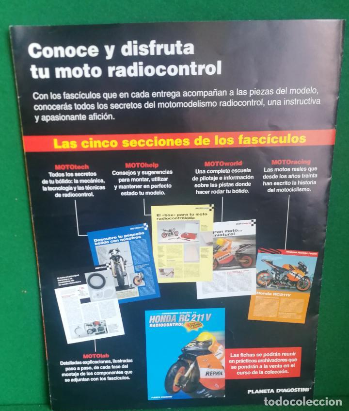 Radio Control: CONSTRUYE Y PILOTA TU HONDA RC 211 V - ESCALA 1/5 - PLANETA DEAGOSTINI - 56 FASCÍCULOS - JYA70 - Foto 24 - 269130918