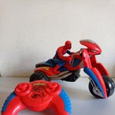 Radio Control: MOTO CON MANDO / SPIDER - MAN / MARVEL - 2010 / SIN PROBAR.. Lote 275479793