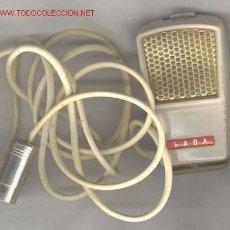 Radios antiguas: MICRÓFONO ANTIGUO MARCA SABA. Lote 27030871